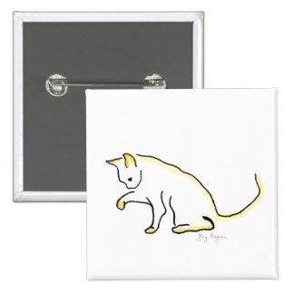 Botón del gato pin cuadrado