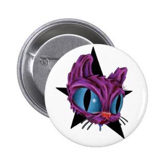 botón del gato pin redondo de 2 pulgadas