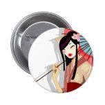 Botón del geisha de Yume Pins