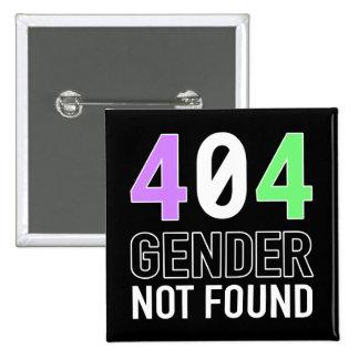Botón del género 404 pin cuadrado