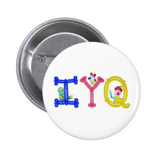 Botón del globo de IYQ Pin Redondo De 2 Pulgadas