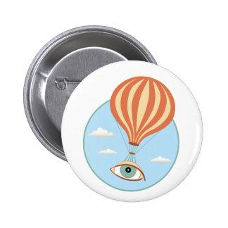 Botón del globo del aire caliente del globo del pin redondo de 2 pulgadas
