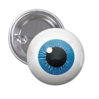 Botón del globo del ojo pin redondo de 1 pulgada