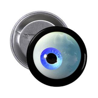 Botón del globo del ojo pin redondo de 2 pulgadas