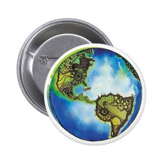Botón del globo pin redondo de 2 pulgadas