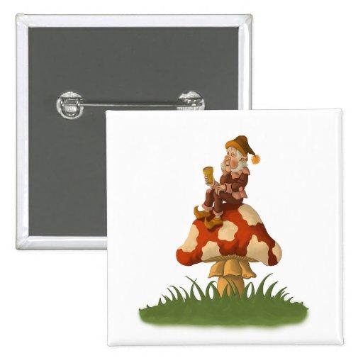 botón del gnomo del toadstool pin
