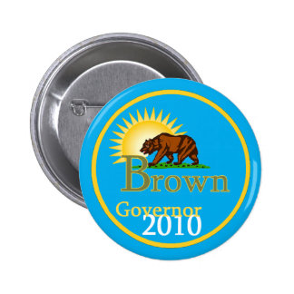 Botón del gobernador 2010 de BROWN Pins