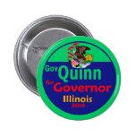 Botón del gobernador 2010 de QUINN Pin
