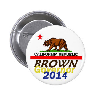 Botón del gobernador 2014 de BROWN Pins