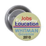 Botón del gobernador de WHITMAN Pins