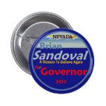 Botón del gobierno 2010 de SANDOVAL Pins