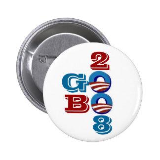 Botón del GOBO de Obama Pin Redondo De 2 Pulgadas