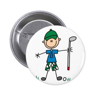 Botón del golf del deporte