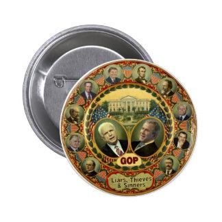 Botón del GOP Pin Redondo De 2 Pulgadas