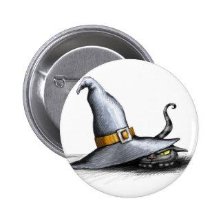 Botón del gorra de la bruja pin