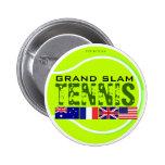 Botón del Grand Slam del tenis Pins