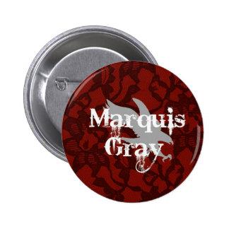 Botón del gris del marqués pins