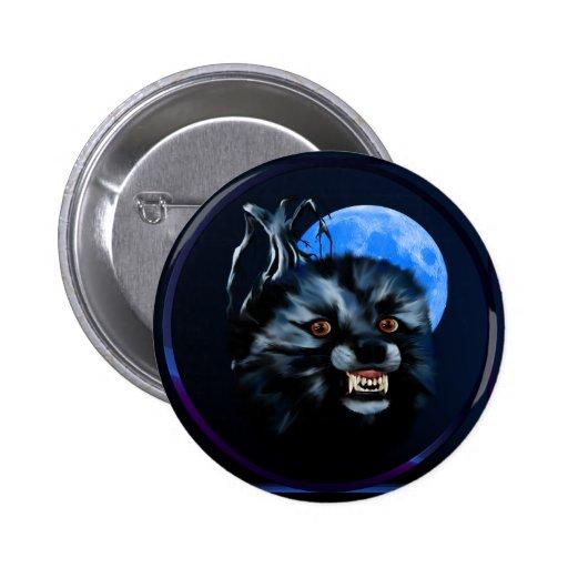 Botón del gruñido del lobo pin