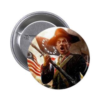 Botón del guerrero de Ron Paul Pin Redondo De 2 Pulgadas