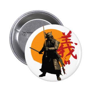 Botón del guerrero del samurai pin