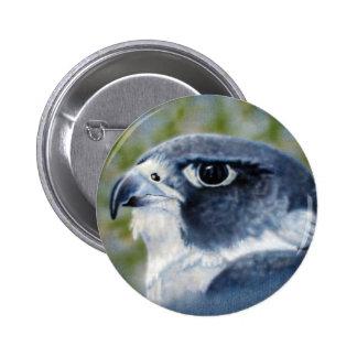 Botón del halcón de peregrino pin redondo de 2 pulgadas