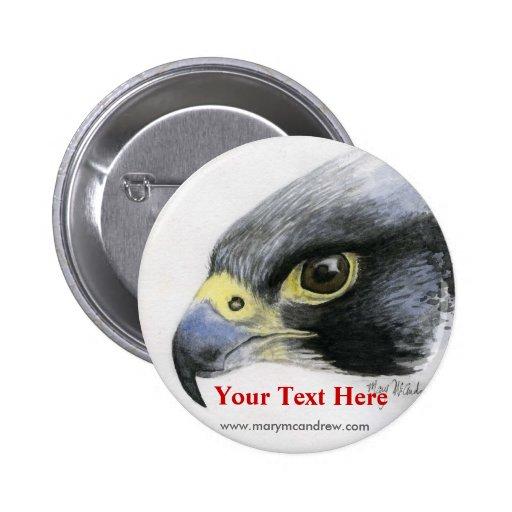 Botón del halcón de peregrino pins