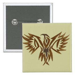 Botón del halcón pin