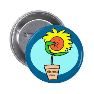 botón del hedor de las alergias pin redondo de 2 pulgadas