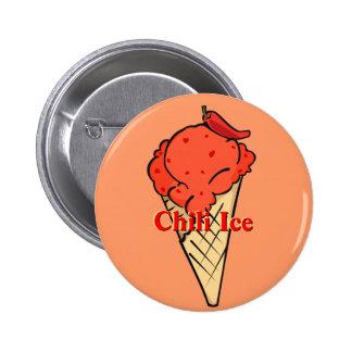 Botón del helado de la pimienta de chile pin redondo de 2 pulgadas