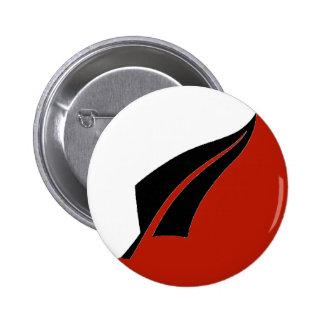 Botón del helecho de plata de Nueva Zelanda Pin