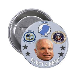 Botón del héroe de McCain