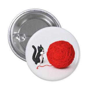 Botón del hilado del gato pins