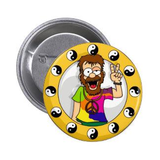 Botón del Hippie Pin