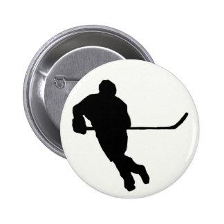 Botón del hockey sobre hielo pin