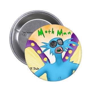 Botón del hombre de la polilla pin redondo de 2 pulgadas