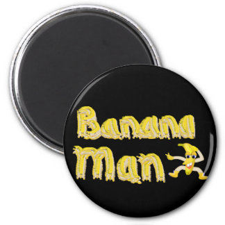 Botón del hombre del plátano imán redondo 5 cm