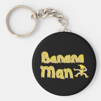 Botón del hombre del plátano llavero redondo tipo pin