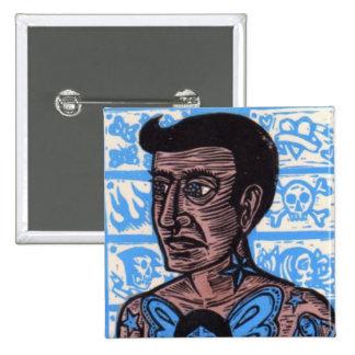 Botón del hombre del tatuaje pin