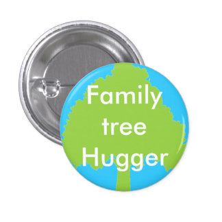 Botón del hugger del árbol de familia pin redondo de 1 pulgada