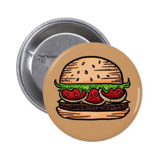 Botón del humor de las hamburguesas de la ayuda pin
