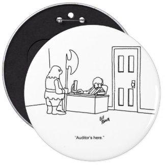 Botón del humor del tiempo de la auditoría pin redondo de 6 pulgadas