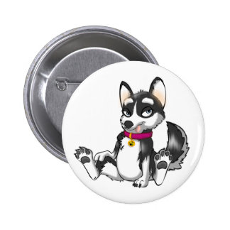 Botón del husky siberiano de Anthro