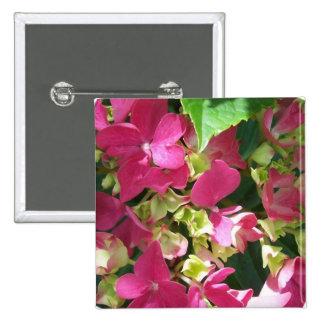 Botón del Hydrangea de las rosas fuertes Pin