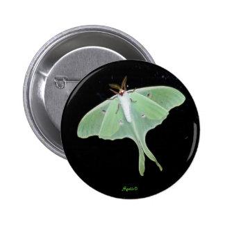 Botón del insecto de la polilla de Luna Pin Redondo De 2 Pulgadas