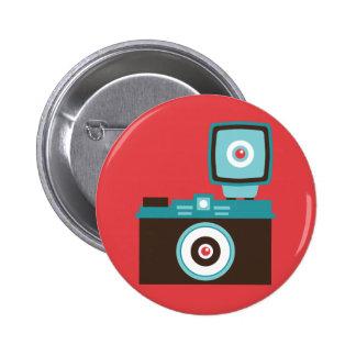 Botón del instinto de la cámara del juguete (Diana Pin Redondo De 2 Pulgadas