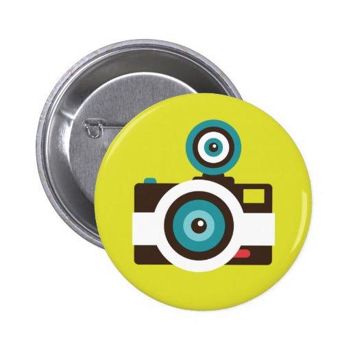Botón del instinto de la cámara del juguete pin redondo de 2 pulgadas
