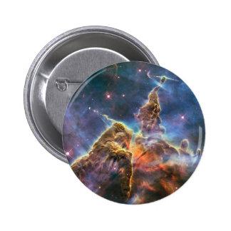 Botón del instinto de la nebulosa del espacio exte pins