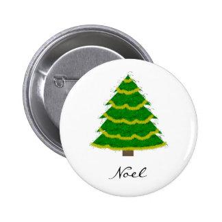 Botón del instinto del árbol de navidad pin redondo de 2 pulgadas