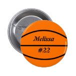 Botón del instinto del baloncesto pins