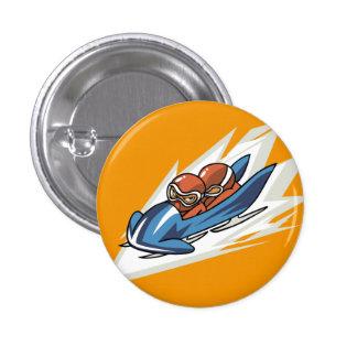 Botón del instinto del Bobsled de los deportes de  Pin Redondo De 1 Pulgada
